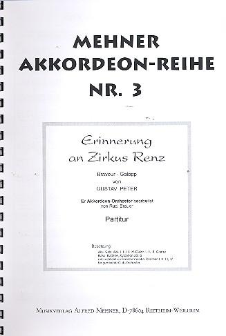Erinnerung an Zirkus Renz - für Akkordeonorchester Partitur ...