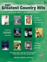 Greatest Country Hits 2007 songbook piano/vocal/guitar