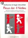Pieces for 4 Violins (+CD-Rom) for elementary violin quartet (and piano) score (parts printable on CD-Rom)