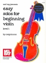 Easy Solos for beginning Violin Level 1 for violin and piano