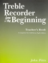 Treble Recorder from the Beginning - for recorder teacher's book