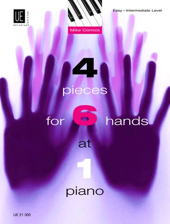 4 pieces - for 6 hands at 1 piano Spielpartitur