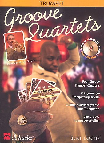 Groove quartets (+CD) - for 4 trumpets score and parts