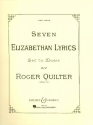 7 Elizabethan Lyrics op. 12 for high voice and piano