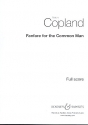 Fanfare for the Common Man for brass and percussion score