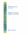 3 Poems for soprano and bassethorn 2 scores