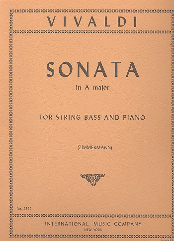 Sonata a major - for string bass and piano Zimmermann,, ed