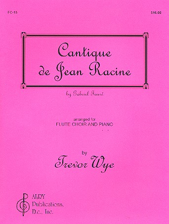 Cantique de Jean Racine - for flute choir (4) and piano parts