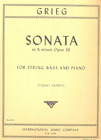 Sonata a minor op.36 - for string bass and piano