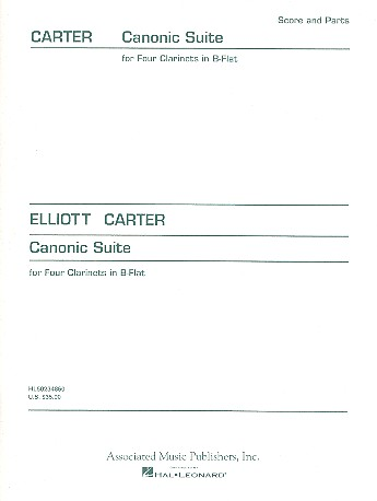 Canonic suite - for 4 clarinets score and parts