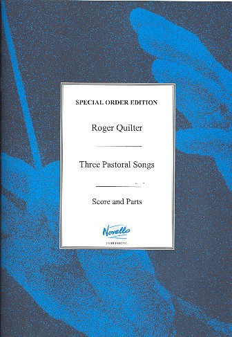 3 pastoral songs op.22 for high voice, violin, violoncello and piano, parts