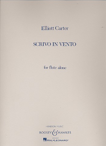 Scrivo in vento - for flute alone