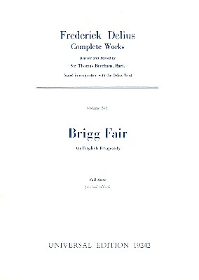 Brigg fair an English rhapsody for orchestra, Studienpartitur Beecham, Th., ed
