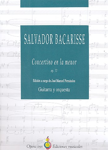 Concertino a minor op.72 for guitar and orchestra score