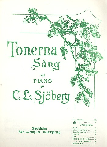 Tonerna - for low voice and piano