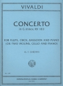 Concerto in g Minor F.XII:4 - for flute, oboe, bassoon and piano (2 violins, cello and piano),  parts