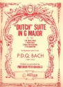 Dutch Suite in D Major for bassoon and tuba,  score
