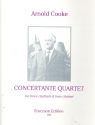 Concertante Quartet - for 3 clarinets amd bass clarinet score and parts