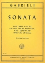 Sonata c major for 3 violins or 2 violins and viola and keyboard (vc ad lib.)