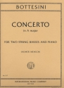 Concerto in A major for 2 string basses and piano parts