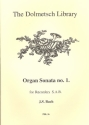 Organ Sonata no.1 - for 3 recorders (SAB) score and parts
