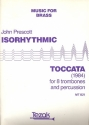 Isorhythmic Toccata for 8 trombones and percussion score and parts