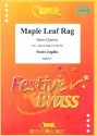 Maple Leaf Rag - for 2 trumpets, horn (trombone) and trombone score and parts