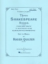3 Shakespeare Songs op.6 for low voice and piano