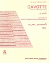 Gavotte from French Suite no.5 for mallet percussion ensmble score and parts