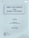 First Movement from Harp Concerto - for flute, violin and cello score+parts