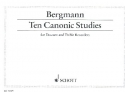 10 canonic studies for sa recorders score