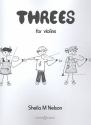 Threes for 3 violins score