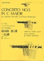 Concerto C major no.5 - for soprano recorder and piano
