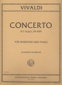 Concerto f major F.VIII:20 - for bassoon and piano