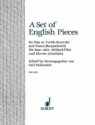 A Set of English Pieces - for bass recorder (treble rec.) and piano