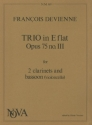 Trio E flat major op.75,3 for 2 clarinets and bassoon (vc)