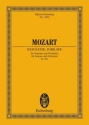 Exsultate, jubilate motet for soprano and instruments study score (la)