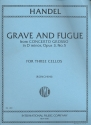 Grave and Fugue from Concerto grosso d minor op.3,5 for 3 cellos parts
