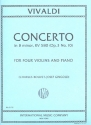 Concerto b minor op.3 no.10 for 4 violins and piano parts