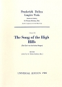 The song of the high Hills für gem Chor und Orchester Studienpartitur