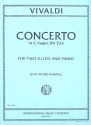 Concerto C major F.VI:2 - for 2 flutes and piano