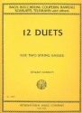 Album of 12 classical Duets - for 2 double basses score