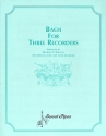 Bach for 3 recorders  score