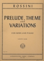 Prelude, Theme and Variations for horn and piano