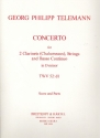 Concerto for 2 clarinets (chalumeaux) and strings score and parts