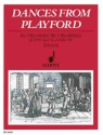 Dances from Playford - for 3 recorders (SST/SAA) score and parts