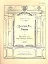 Quartet for Basses - for recorders, celli, bass gambas or bassoons score and parts