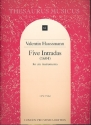 5 Intradas - for 6 instruments (1604) set of scores