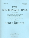 5 Shakespeare songs op.23 for high voice and piano