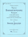 3 Shakespeare Songs op.6 for high voice and piano